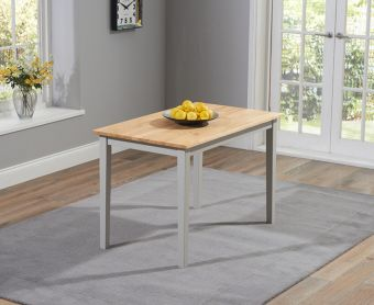 Chiltern 114cm Grey and Oak Dining Table