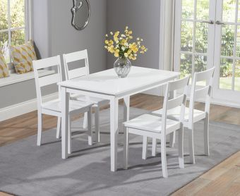 Chiltern 114cm White Dining Set with Chairs