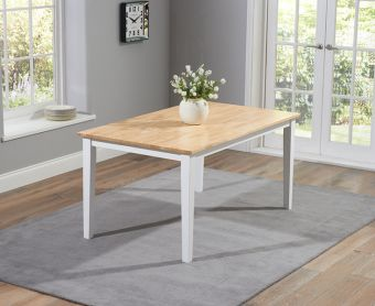 Chiltern 150cm White and Oak Dining Table