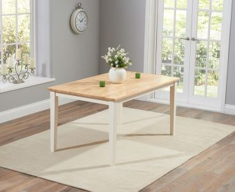 Chiltern 150cm Cream and Oak Dining Table
