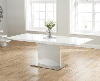 Hailey 160cm White High Gloss Extending Dining Table