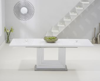 Tula 160cm Extending White High Gloss Dining Table