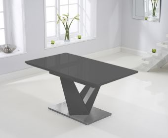 Harmony 160cm Extending Dark Grey High Gloss Dining Table
