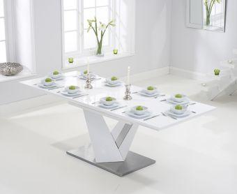 Harmony 160cm Extending White High Gloss Dining Table