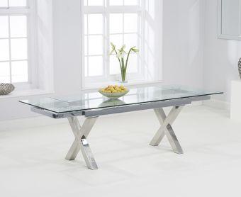 Celeste 160cm Extending Glass Dining Table