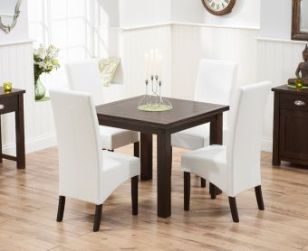 Somerset 90cm Flip Top Dark Oak Dining Table with Dakota Chairs