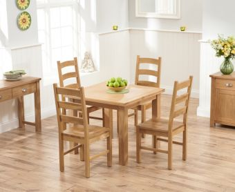 Somerset 90cm Flip Top Oak Dining Table with Vermont Chairs
