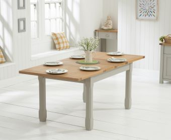 Somerset 130cm Oak and Grey Extending Dining Table