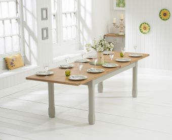 Somerset 180cm Oak and Grey Extending Dining Table