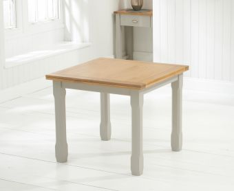 Somerset 90cm Oak and Grey Flip Top Extending Dining Table