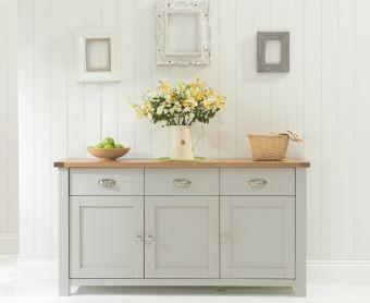 Somerset Oak and Grey 3 Door 3 Drawer Sideboard