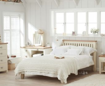 Somerset Oak and Cream Double Bed