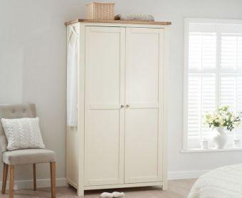 Somerset Oak and Cream Two Door Wardrobe