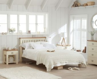Somerset Oak and Cream King Size Bed