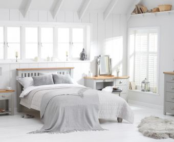 Somerset Oak and Grey King Size Bed