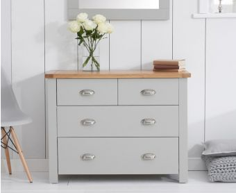 Somerset Oak and Grey 2 Over 2 Drawer Chest