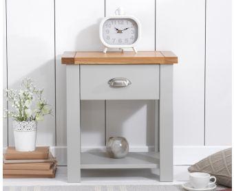 Somerset Oak and Grey Bedside Table