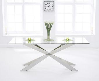 Juniper 200cm Glass Dining Table
