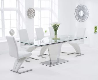 Liberty 160cm Extending Glass Dining Table with Hampstead Z Chairs