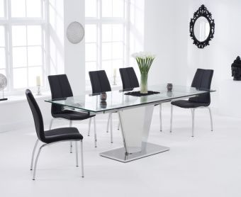 Liberty 160cm Extending Glass Dining Table with Cavello Chairs