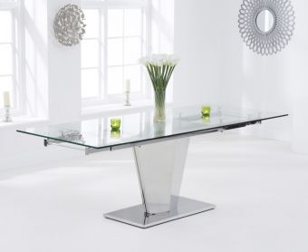 Liberty 160cm Extending Glass Dining Table