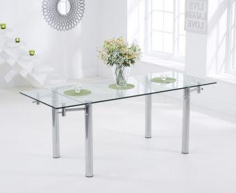 Geneva 140cm Glass Extending Dining Table