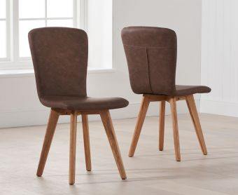 Tivoli Retro Faux Leather Chairs (Pairs)