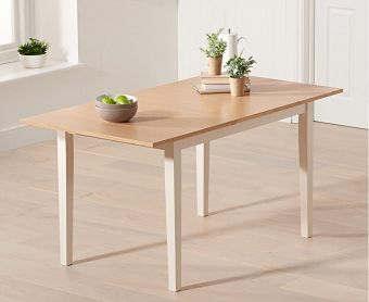Chiltern 120cm Oak and Cream Extending Dining Table