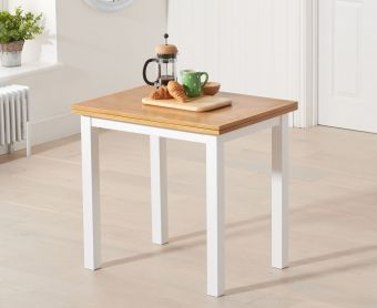 Hastings 60cm White and Oak Extending Dining Table