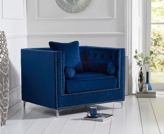 New Jersey Blue Velvet Armchair