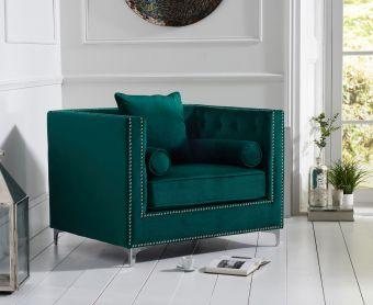 New Jersey Green Velvet Armchair