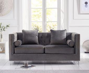 New Jersey Grey Velvet 3 Seater Sofa