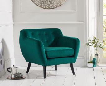 Thor Green Velvet Accent Chair