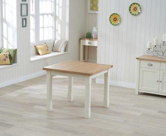 Somerset 90cm Flip Top Oak and Cream Table