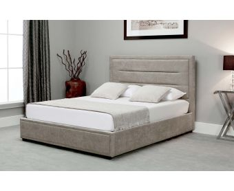Kettner Stone Fabric Ottoman Double Bed