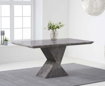 Andre 160cm Grey Marble Dining Table