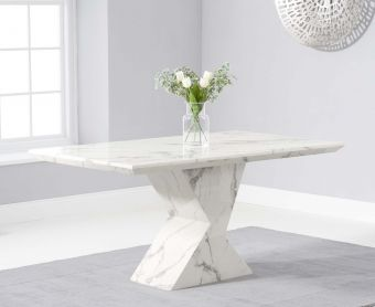 Andre 160cm White Marble Dining Table