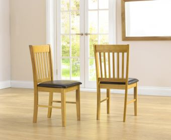 Amalfi Oak Dining Chairs (Pairs)