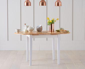 Amalfi Oak and White Extending Table