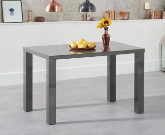 Atlanta 120cm Dark Grey High Gloss Dining Table