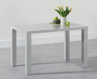 Atlanta 120cm Light Grey High Gloss Dining Table