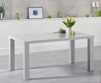 Atlanta 160cm Light Grey High Gloss Dining Table
