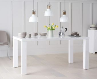 Atlanta 160cm White High Gloss Dining Table