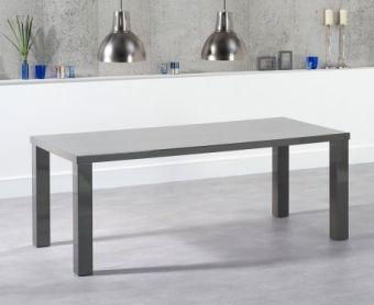 Atlanta 200cm Dark Grey High Gloss Dining Table