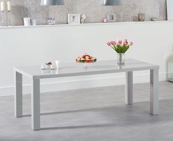 Atlanta 200cm Light Grey High Gloss Dining Table