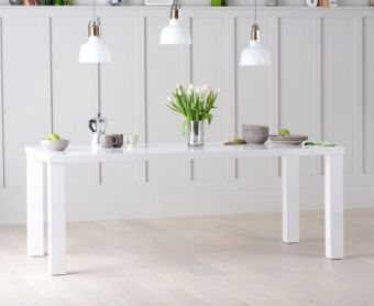 Atlanta 200cm White High Gloss Dining Table