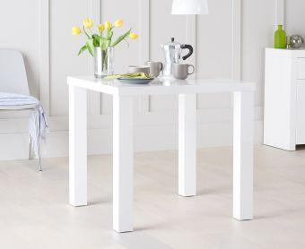 Atlanta 80cm White High Gloss Dining Table