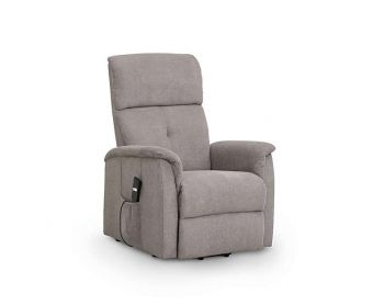 Avra Modern Taupe Velvet Compact Rise & Recline Chair