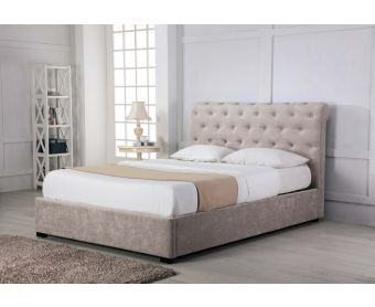 Balmoral Stone Low End Scroll Ottoman Super King Size Bed