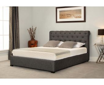 Balmoral Grey Low End Scroll Ottoman King Size Bed